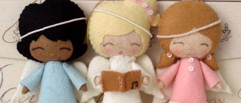 Ангелочек из фетра своими руками рисунок 2