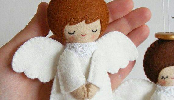 Ангелочек из фетра своими руками рисунок 3