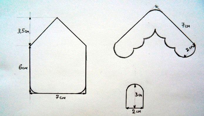 Шаблон домика из фетра
