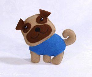 Собака из фетра своими руками рисунок 3