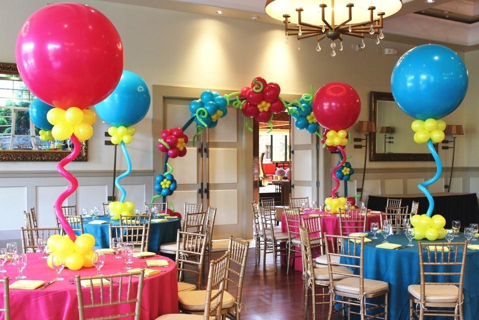 украшение детского дня рождения шарами