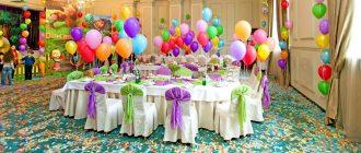 украшения шарами на день рождения ребенка