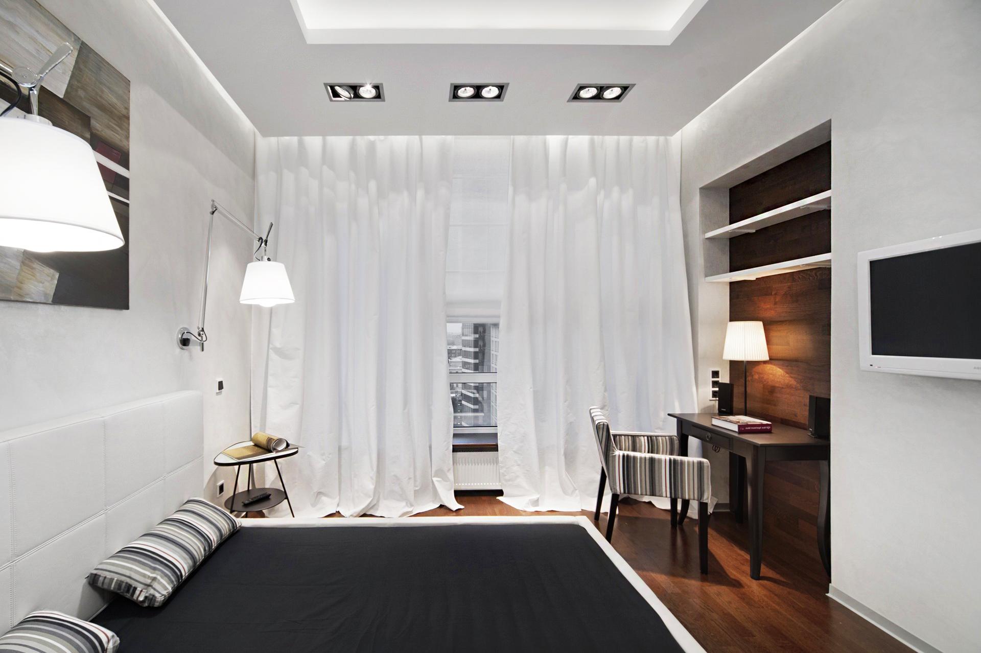 белые шторы и тюль