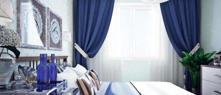 как подобрать тюль к шторам в спальню пример 2