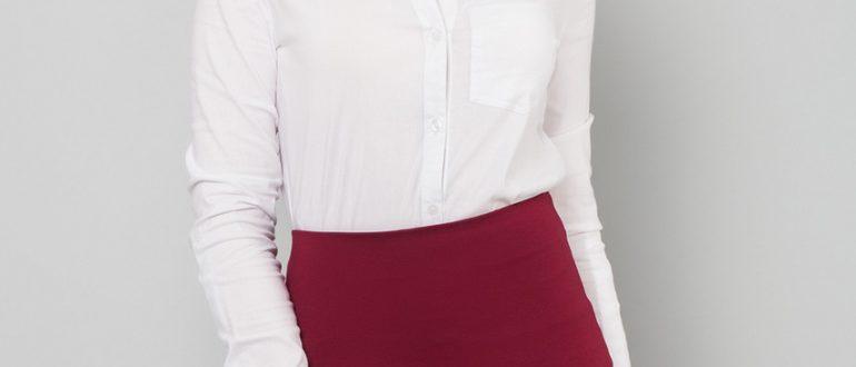 Классическая юбка карандаш бордовая