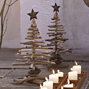 Новогодние елки из деревянных палок рисунок 1