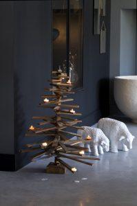 Новогодние елки из деревянных палок рисунок 2