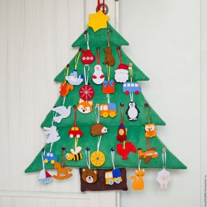 Новогодняя елочка с игрушками рисунок 1