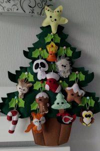 Новогодняя елочка с игрушками рисунок 2