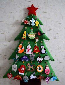 Новогодняя елочка с игрушками рисунок 3