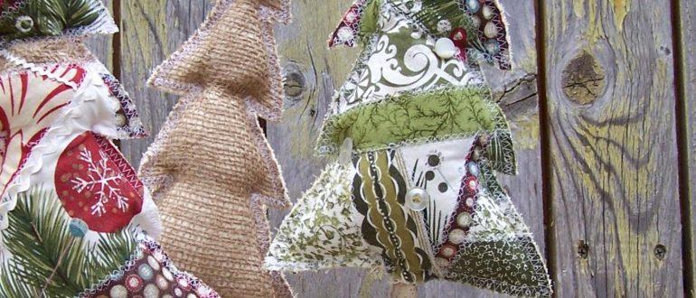 Оригинальные елочки поделки из ткани
