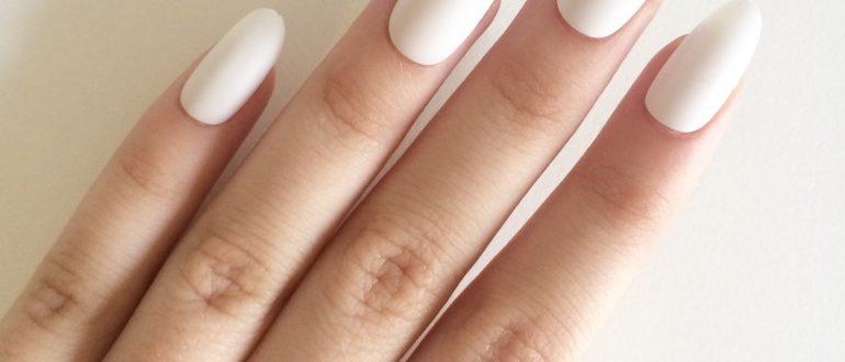 Овальная форма ногтей рисунок 5