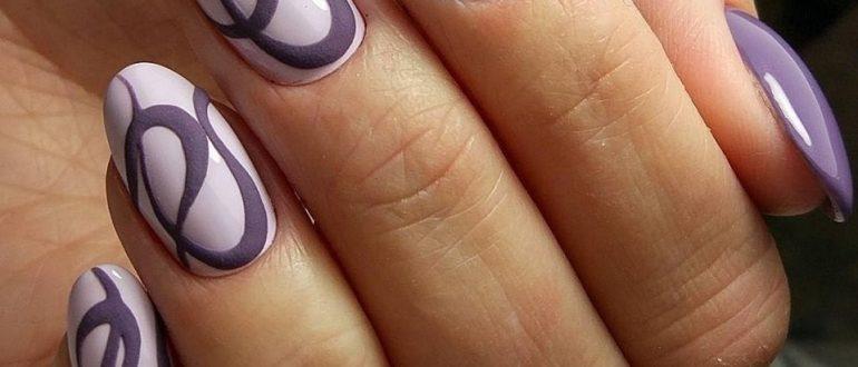 Овальная форма ногтей рисунок 6