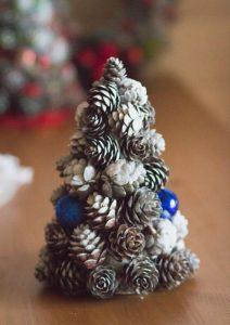 Поделка елки из шишек