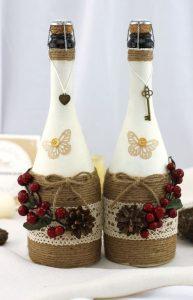Примеры оформления бутылок фото 2