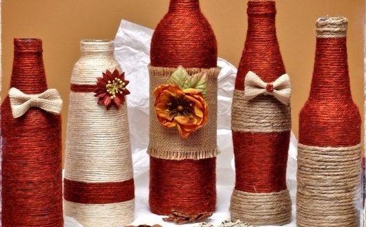 Примеры оформления бутылок фото 3