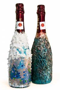 Примеры оформления бутылок фото 4