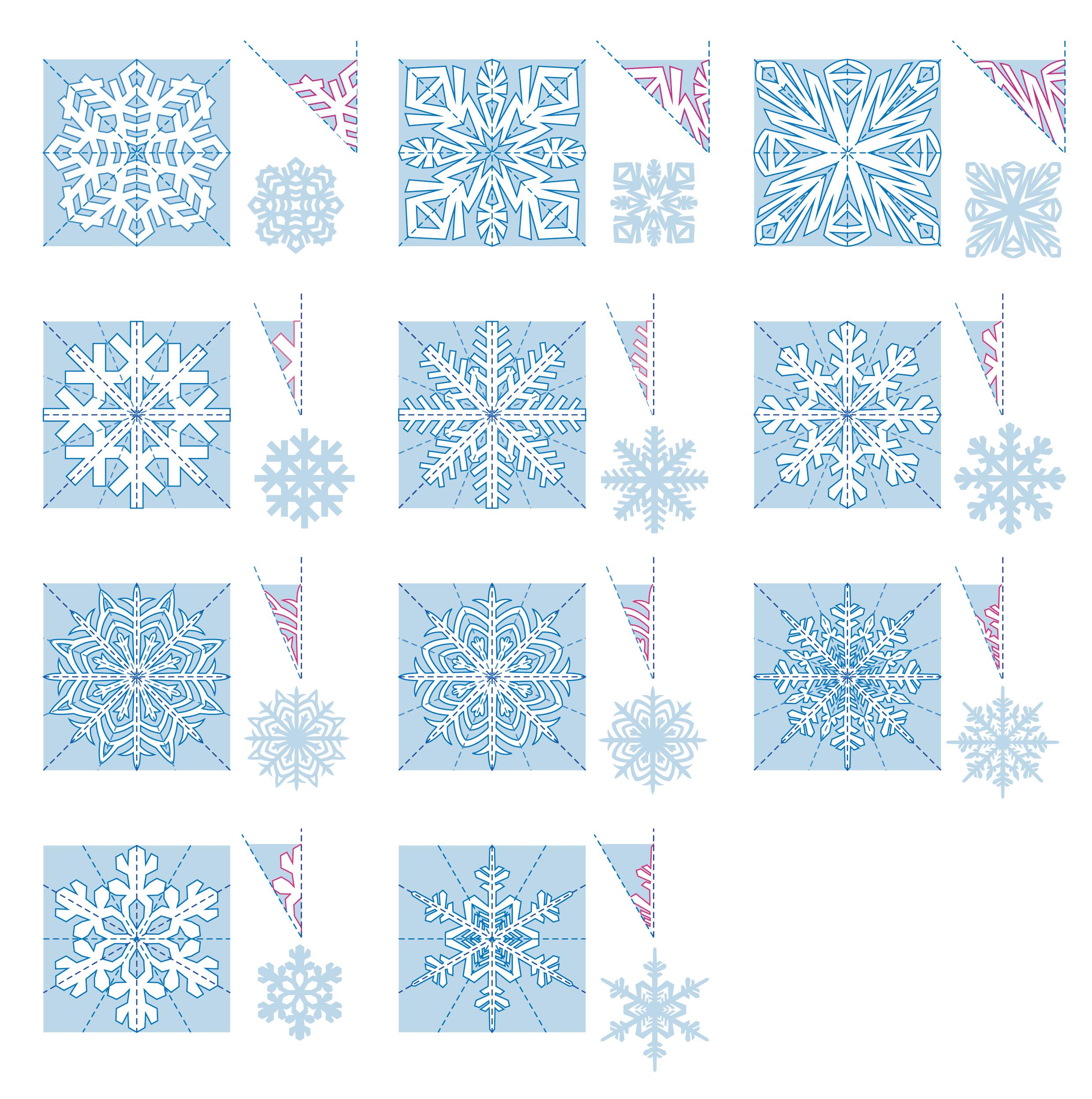 Шаблоны снежинок