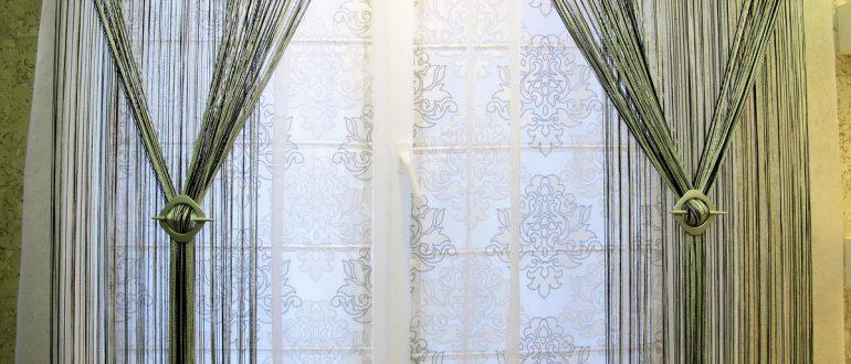 штора декоративная нить