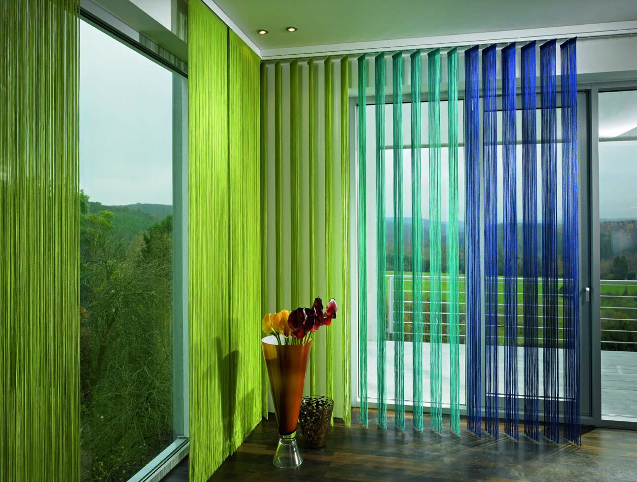 шторы 3 разных оттенка