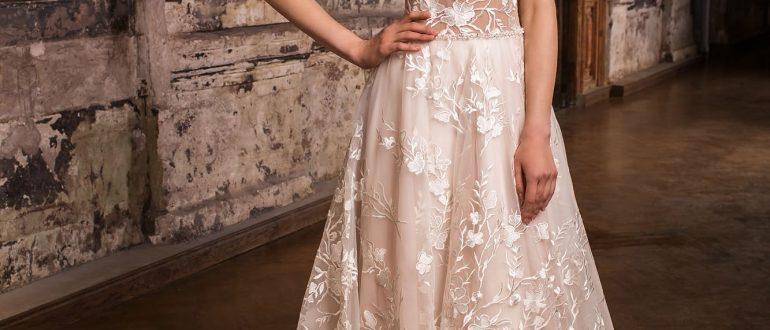 Свадебные платья цвет 2018 фото 3