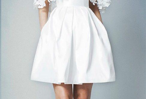 Свадебные платья короткие фото 4