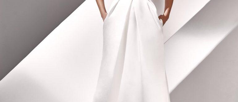 Свадебные платья минимализм 2018 фото 2