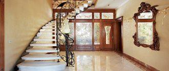 Дизайн коридора с лестницей в частном оме