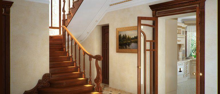 Дизайн коридора в доме с лестницей фото 4