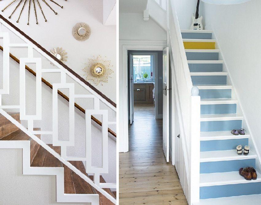Дизайн лестницы в доме на второй этаж 2