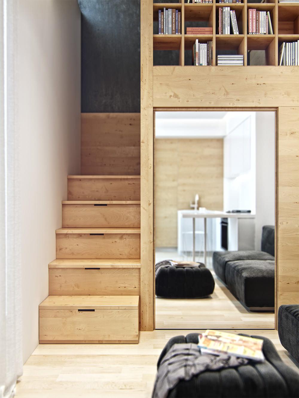 Дизайн современных лестниц в доме 2