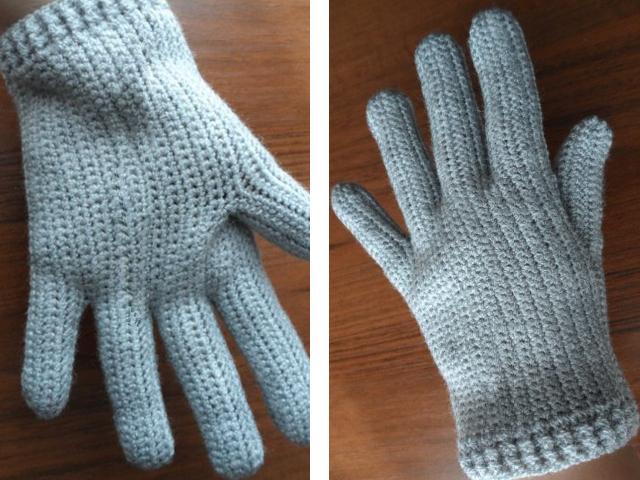Готовые мужские перчатки