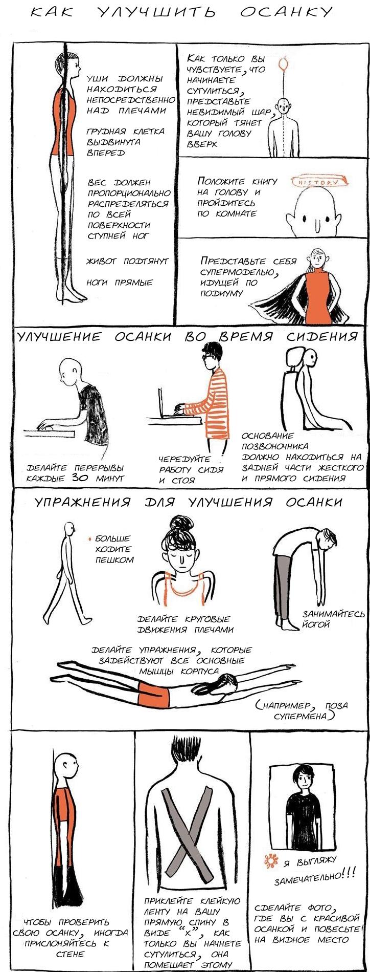 Как улучшить осанку