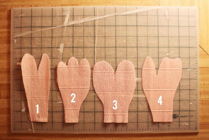 Лепестки для пиона 1-4