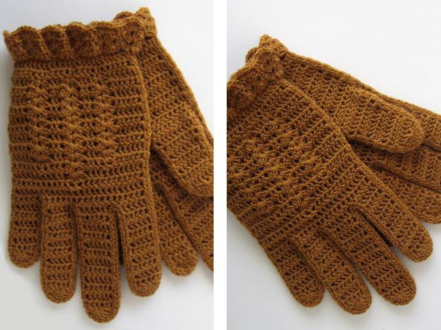 Вязание женских перчаток крючком