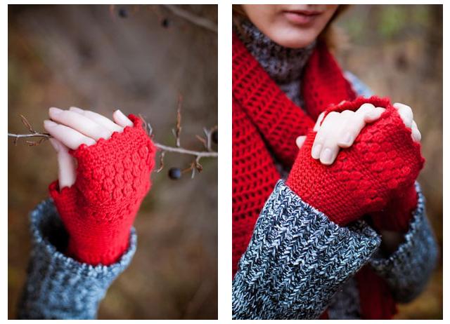 Вязание перчаток крючком без пальцев