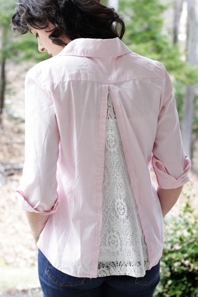Внешний вид рубашки с кружевом
