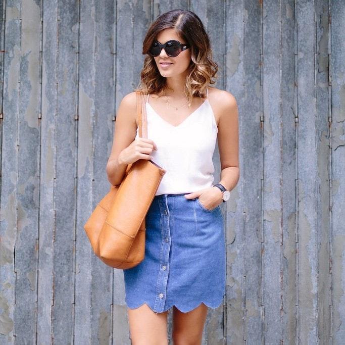 Внешний вид джинсовой юбки