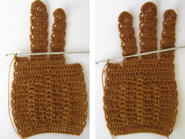 Вязание пальцев