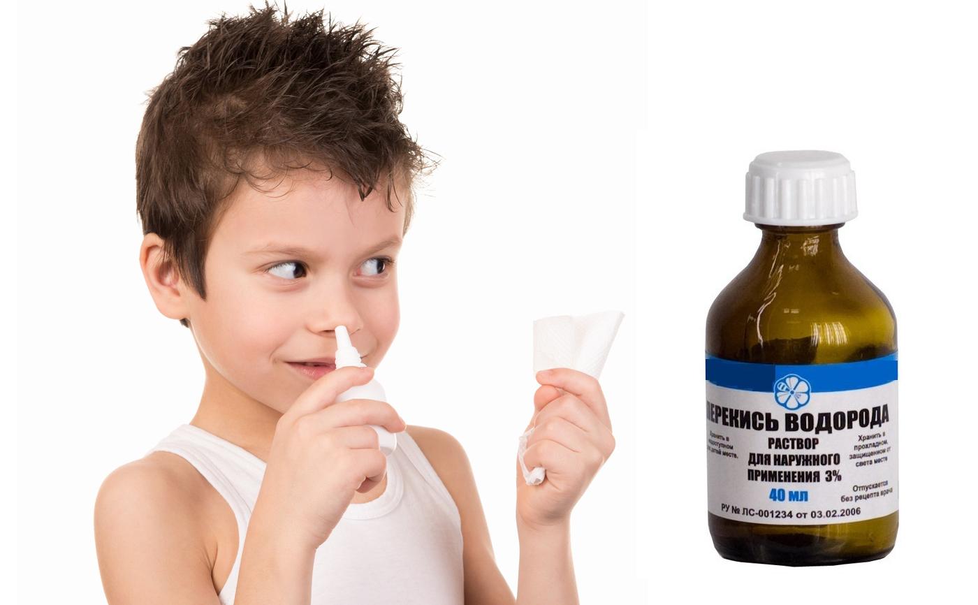 Как принимать перекись водорода в нос