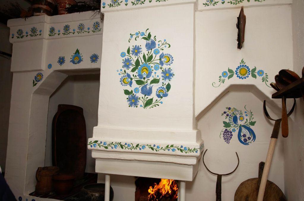 Розрисованная печь