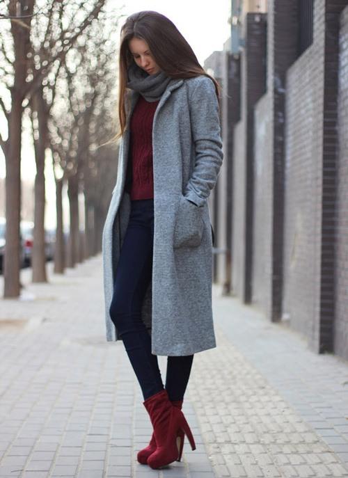 Ботильены с пальто