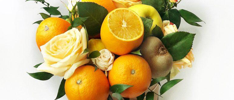 Букет с апельсинами