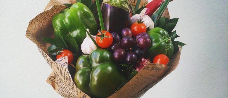 Оригинальный букет из овощей
