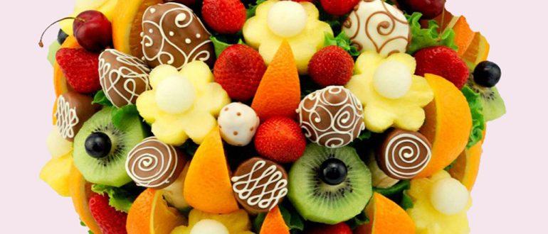 Подарочная композиции из фруктов
