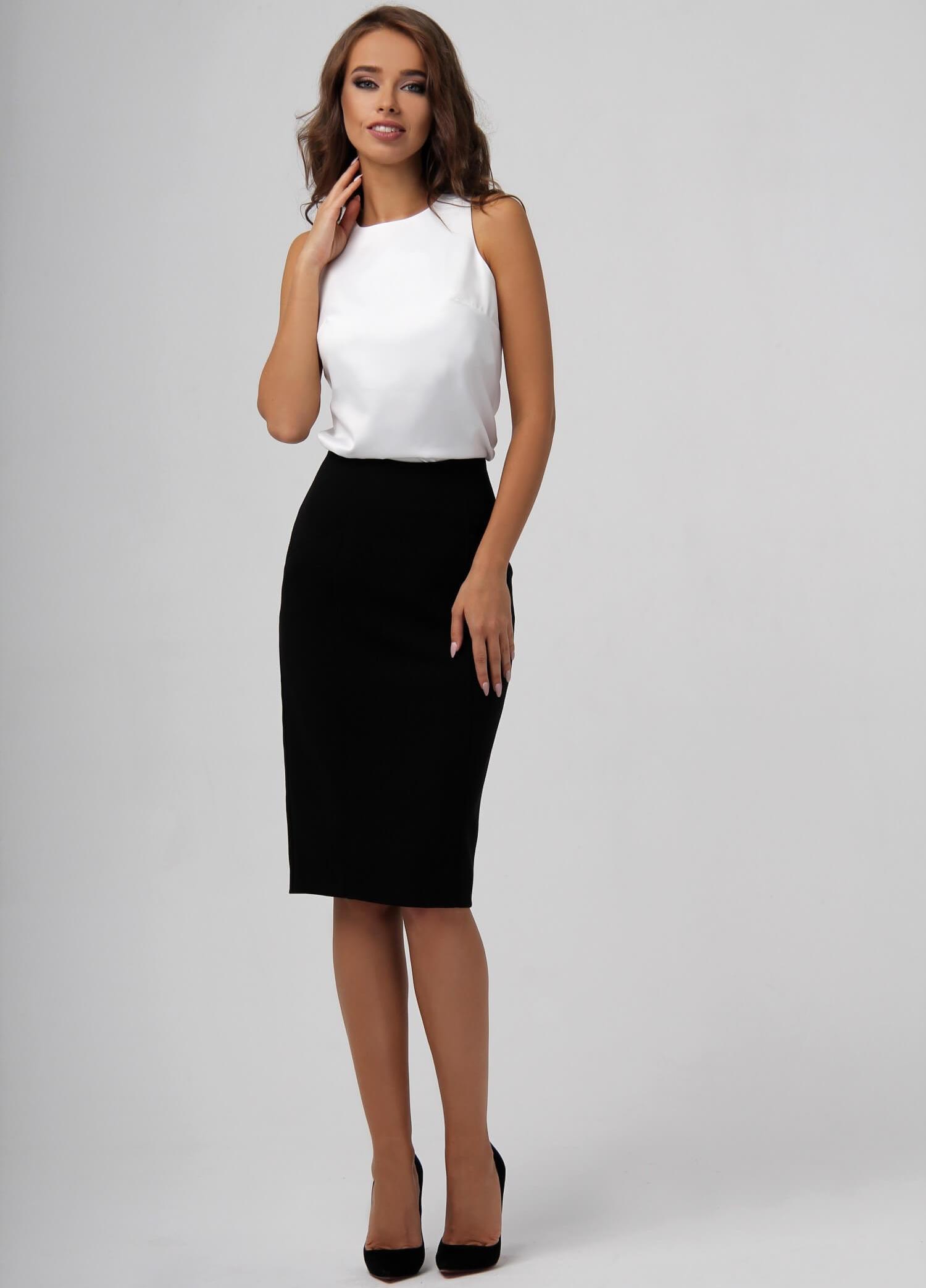Черная классическая юбка-карандаш