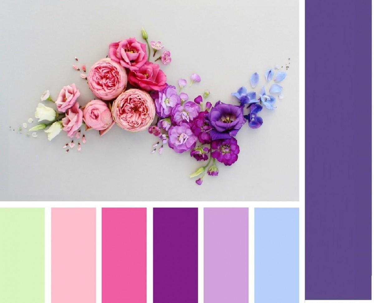 Сочетание ультрафиолета с другими цветами
