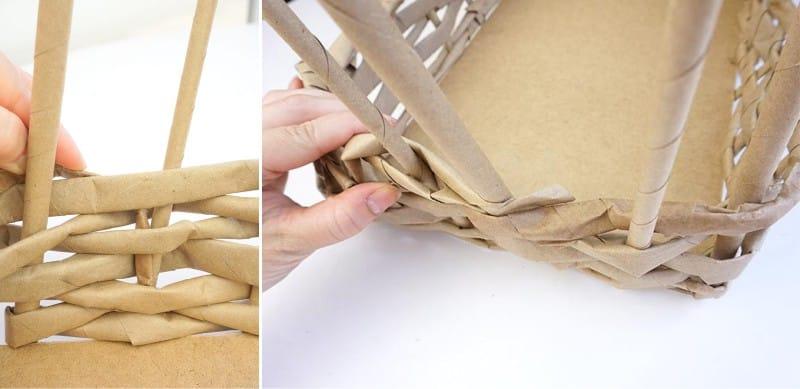 Как закончить плетение