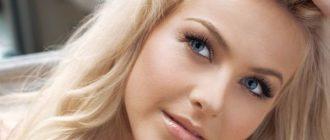 Макияаж для голуюых глаз и светлых волос