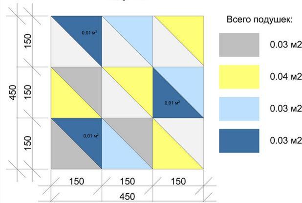 Подушка из треугольников